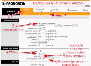 Как настроить модем Промсвязь М-200а