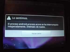 Решение ошибки android.process.acore