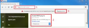 Включение поддержки NPAPI в браузерах Opera и Firefox