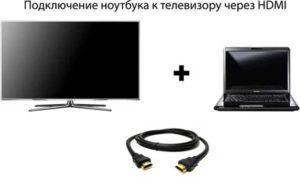 Подключение компьютера к телевизору через кабель
