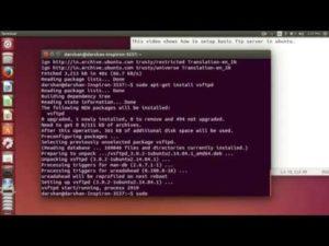 Установки и настройка FTP-сервера в Ubuntu