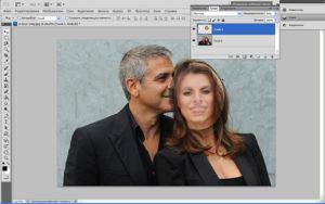 Замена лица в Photoshop