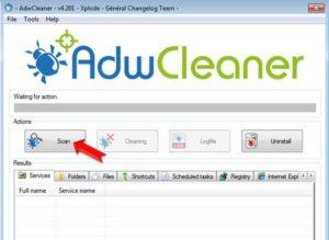 Как пользоваться Adwcleaner