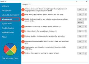 Устранение ошибок на Windows 10 с помощью FixWin