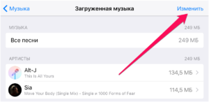 Загрузка и удаление музыки на iPhone