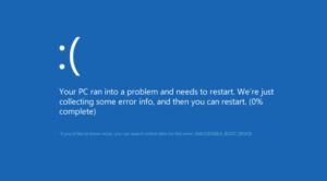Решение ошибки INACCESSIBLE BOOT DEVICE при загрузке Windows