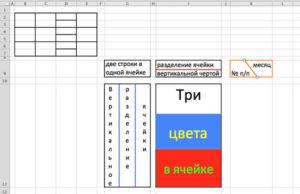 Как разделить ячейку в таблице Excel — разные способы