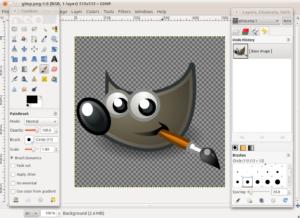 Прозрачность и замена фона в графическом редакторе GIMP
