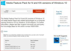 Media Feature Pack и Windows 10 – проблемы и их решения