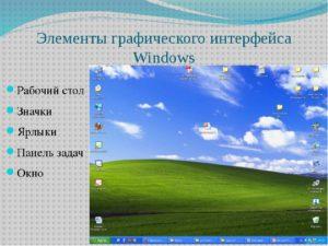 Операции с Рабочим столом в Windows