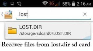 Всё, что нужно знать о папке LOST.DIR