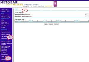 Включение функции UPNP на маршрутизаторе