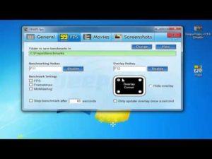 Создание видео и скриншотов программой Fraps