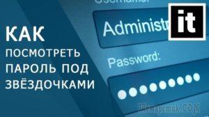 Как увидеть пароль под звёздочками