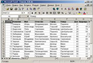 Как работать с выпадающим списком в Excel
