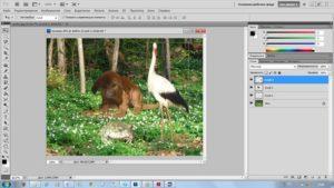 Работа со слоями в Photoshop