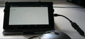 Подключение мышки к планшету