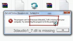Ошибки файла «X3DAudio1_7.dll»: почему появляются и как исправить