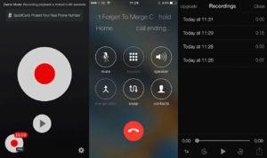 Запись звонка в iPhone