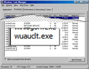 Что такое Wuauclt.exe и способы его удаления