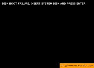 Исправление ошибки DISK BOOT FAILURE, INSERT SYSTEM DISK и почему она появляется