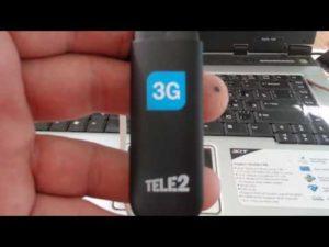 Особенности подключения и настройки 3G-модема TELE2