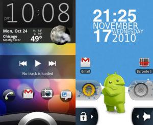 Смена виджетов на экране блокировки Android