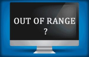 Решение ошибки Out of range