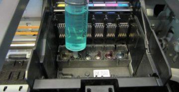 Чистка печатающей головки принтера Epson
