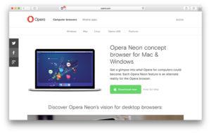 Как пользоваться браузером Opera Neon