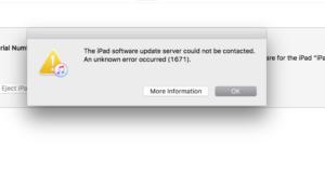 Методы устранения ошибки 1671 в iTunes