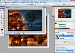 Работа с маской слоя в Photoshop