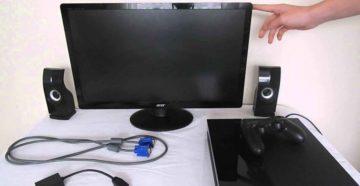Подключение PS4 к мониторам (телевизорам)